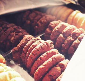rows of cookies