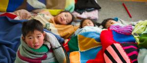 children at naptime