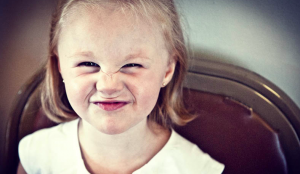 child funny face
