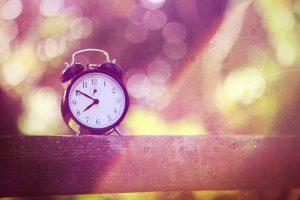 alarm clock on a rail