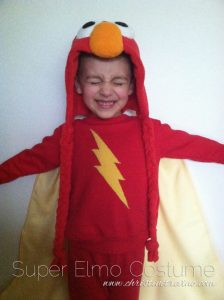 easy Elmo costume