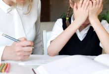 Parent helping child with homework and child is frustrated