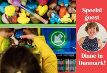 Child organizing toys